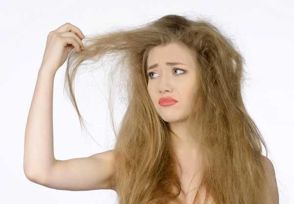 olio per capelli secchi